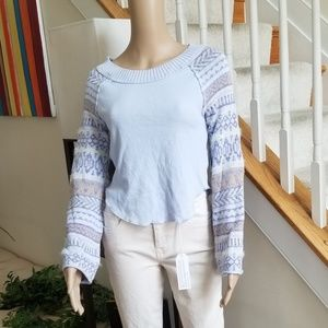 Free People Fairground Striped-Sleeve Thermal XS